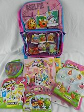 "New Full Size 16"" SHOPKINS Backpack Lunchbox LOT Folder Lip Balm Erasers More!"