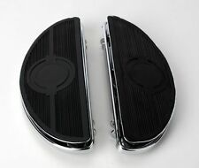 Chrome Half-Moon Floorboards with Vibration Inserts for Harley-Davidson