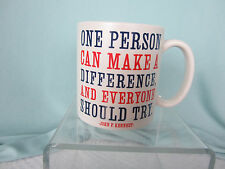 Quotable Mugs Large Coffee Mug One Person Can Make a Difference JFK Quote