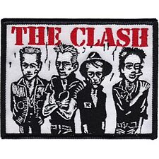 The Clash Caricature iron-on / sew-on cloth patch  100mm x 80mm  (cv)