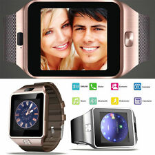 Bluetooth Smart Sport Watch Phone GSM SIM Card For Android Smartphone DZ09 Gold