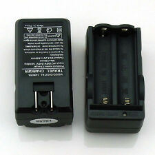 2pcs AC 18650 Dual Rechargeable Battery Charger Li-ion Travel Charger US Plug