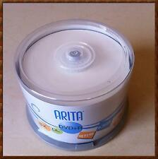 RITEK/Arita DVD+R Dual Layer 50 Spindle 2-8X 8.5GB 240Min DVD+R DL D9 8.5GB Disc