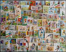 FOOTBALL On Stamps - 100 Different Large world Wide Mixed Thematic Used Stamps
