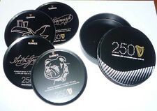 MALAYSIA Beer Mat Coaster Set GUINNESS STOUT 2009 Limited Edition 250 Years Tin