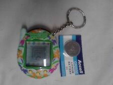 Tamagotchi Connection Teal w/ Flowers Giga Pet virtual bandai New Battery