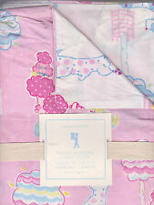 pottery barn kids poodle reversible duvet,twin,pink