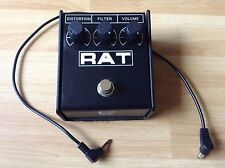 ProCo RAT distortion guitar effects pedal with power cable