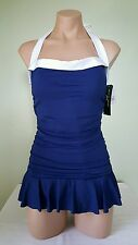 Ralph Lauren indigo blue swim dress swimsuit size 14