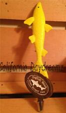 "DOGFISH HEAD BEER TAP HANDLE 13"" KEG PULL KNOB MANCAVE BAR BRIGHT YELLOW"