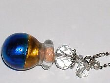 1pc Murano Swirl Color Glass oil perfume bottle cork pendant vial Necklace