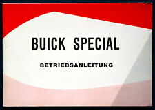 Owner's Manual * Betriebsanleitung 1962 Buick Special (D)