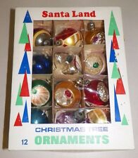 "SET 12 VINTAGE SANTA LAND CHRISTMAS TREE ORNAMENTS SET #A13 2"" ASSORTED DESIGNS"