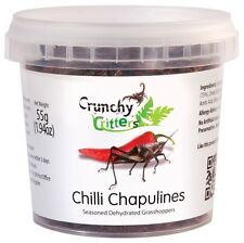 Edible Insects Edible Bugs Bush Tucker Chilli Chapulines 55g Crunchy Critters