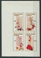 SCOTLAND BERNERA ISLANDS BLUMEN UNGEZÄHNT / FLOWERS IMPERF RARE! d786