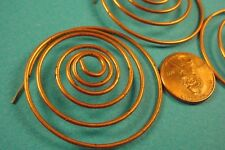 4 Vintage copper plated  coiled coil steel wire spirals with a post at the end