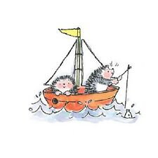 PENNY BLACK RUBBER STAMPS FISHING HEDGEHOGS STAMP 2008