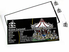 CUSTOM PLAQUE STICKER for Lego 10196 Grand Carousel + Bonus extra's!