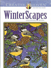WinterScapes - A Creative Haven Adult Coloring Book from Dover Publications