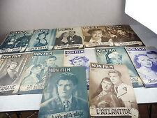 Lot de 12 revues de cinéma, Mon film, années 1950