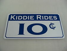 KIDDIE RIDES Sign Vintage Style Game Room Carnival Fair Boardwalk Amusement Park