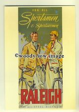 ad0053 - Raleigh - All Steel Bicycle - modern advert postcard