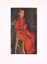 1940's Vintage Chaim Soutine Enfant de Choeur Altar Boy Offset Litho Art Print
