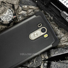 3PCS Heavy Duty Fitted Designed Armor Rugged Hybrid Case Cover For LG G3 Phone