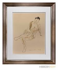 "Marino MARINI Lithograph SIGNED Ltd EDITION ""Riposo"" 1948  +Custom FRAME 20x24in"