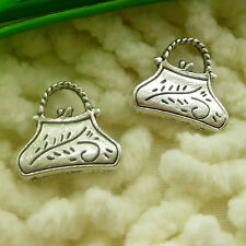 Free Ship 135 pcs tibetan silver handbag charms 15x14mm #2005