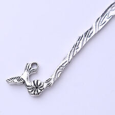 25x 160305 New Wholesale Charms Silvery Bird Bookmarks For Beading Findings