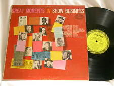 GREAT MOMENTS IN SHOW BUSINESS Al Jolson Fred Astaire Dick Powell Epic LP
