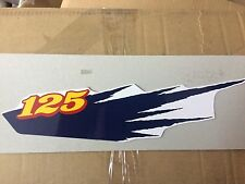 YAMAHA DT125 ENDURO 1993 1994 1995 1996 3TT Side Cover Decal N.O.S