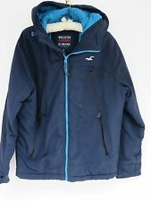 Pre-Owned Men's Hollister All Weather Hooded Navy Blue Jacket Size Small