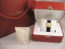 Men's must de Cartier Watch 18 K Vermeil 925 Sterling Silver Excellent Condition