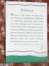 "Blue Mountain Arts Greeting Card ""Believe in Yourself"" B2GO SALE"