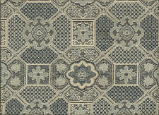 Madrid Woven Morrocan Octagon Geometric Shapes Blues Cream Upholstery Fabric