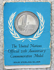 US 1970 Sterling Silver UN 25th Anniversary Gem Proof Carded