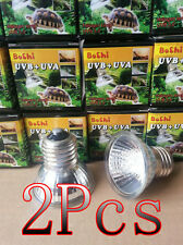 IW 2Pcs Aquarium Reptile Infrared Emitter Heat UVA + UVB Lamp Light 25W 220-240V