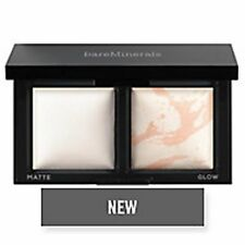 BAREMINERALS INVISIBLE LIGHT TRANSLUCENT FACE POWDER DUO MATTE & GLOW $32 BOXED