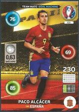 PANINI EURO 2016 ADRENALYN XL CARD- #111-ESPANA-SPAIN-GOAL MACHINE-PACO ALCACER