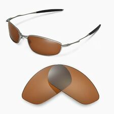 New Walleva Polarized Brown Replacement Lenses For Oakley Whisker Sunglasses