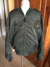 1986 Korean Presentation  L2B FLIGHT JACKET US Air Force Mil. Uniform XL •RARE•