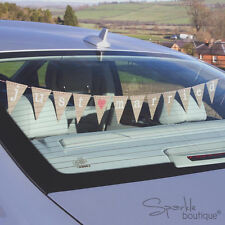 JUST MARRIED CAR BUNTING -Vintage/Retro Wedding Banner/Sign- FULL RANGE IN SHOP!