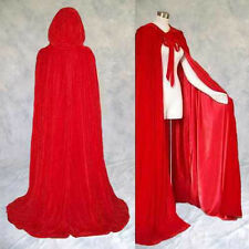 Lined Red Velvet Cloak Cape Wedding Wicca Medieval SCA Cosplay Red Riding Hood