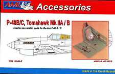 AML Models 1/48 CURTISS P-40B/C & TOMAHAWK COCKPIT INTERIOR Resin & PE Conv Kit