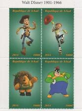 "DISNEY TOY STORY 4.5"" x 3.5"" REPUBLIQUE DE TCHAD 2014 MNH STAMP SHEETLET"