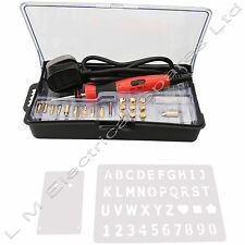 22PC 30W Wood Burning Pen Soldering Set Pyrography Kit Brass Tools Tips & Box