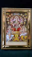 Goddess Laxmi, Saraswati and Lord Ganesha Photo Frame For Diwali