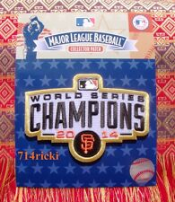 2014 MLB World Series Champions Champs Patch San Francisco Giants Ring Ceremony